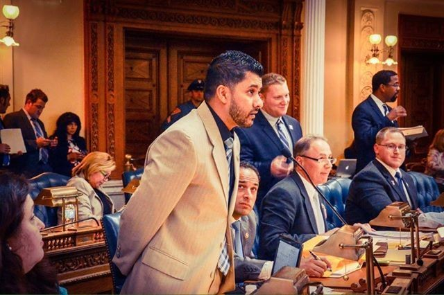 Assemblyman Raj Mukherji of Jersey City successfully advocated for the New Jersey State Assembly to support S.2012, which calls for the state to ban elephant ivory and rhino horn sales. © Rebecca Nowalski.