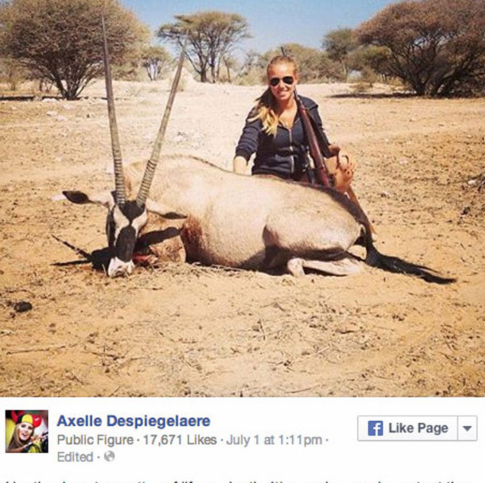 Axelle-Despiegelaere-Oryx-L'Oreal-hunting