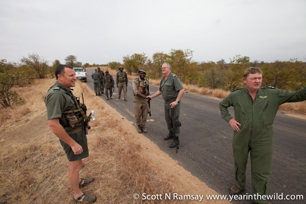 On the ground with Kruger's rangers.