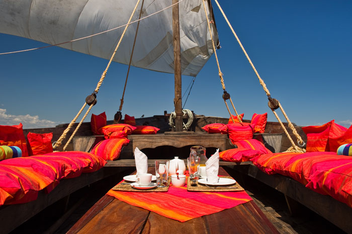 Little-luxury-on-board-the-dhows.