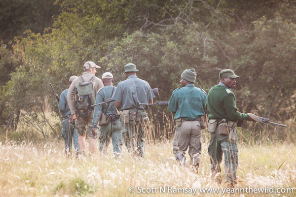 On patrol with rangers in Tembe. Despite their commitment and dedication, there is a serious lack of back-up support and assistance from Ezemvelo KZN Wildlife's head office.