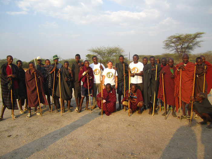 Amy and team meeting with Ruaha's local Barabaig people.