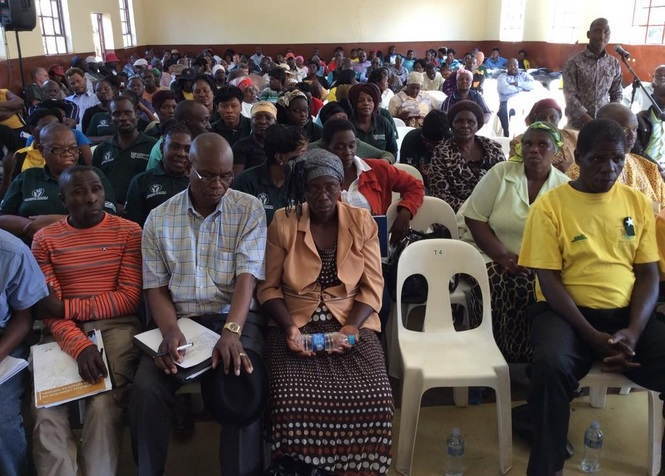 Image taken at the public hearings in Bushbuckridge, Mpumalanga. © Terri Stander
