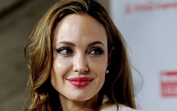 Angelina Jolie at the Women in the World Summit in New York, in 2012 © Associated Press