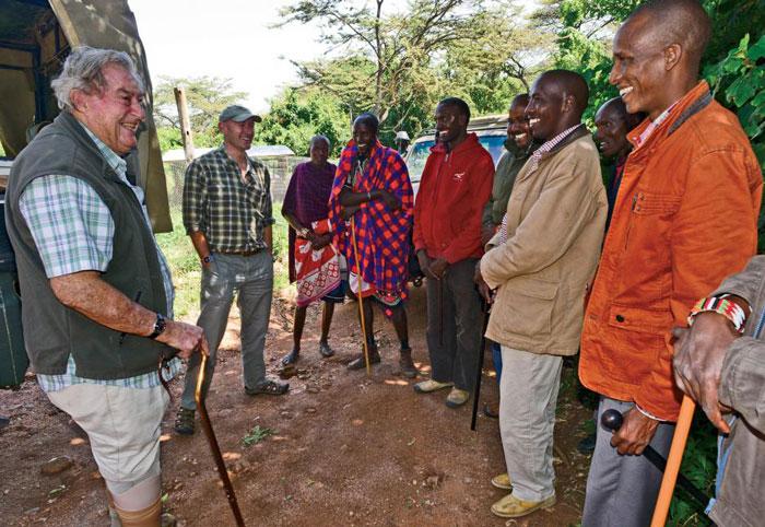 Richard Leakey in the Mara region. © Graham Boynton