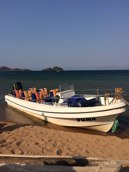 Vuma, Nkwichi's boat that transfers you to the lodge from Likoma Island or Cobue, depending on where you're travelling from © Robyn Frick