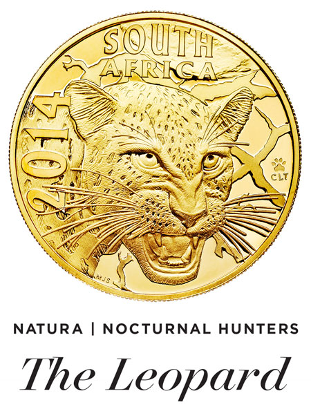 The Natura Series 'Nocturnal Hunters: The Leopard' legal tender gold coin.