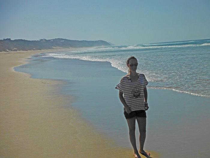 Walking along the beach from Ponta do Ouro to Ponta Malongane