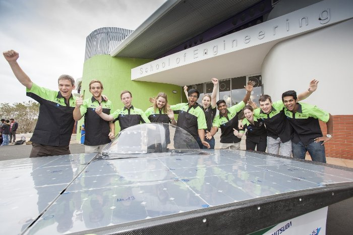 The UKZN Solar Team a few weeks before the race. © Dean Demos Photography