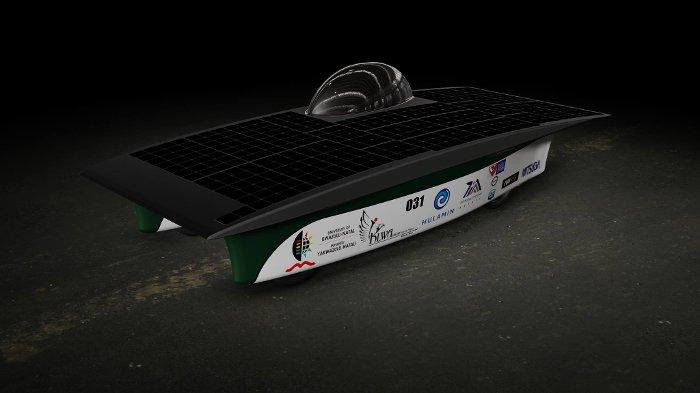 A computer generated rendering of Hulamin-iKlwa. © UKZN Solar team