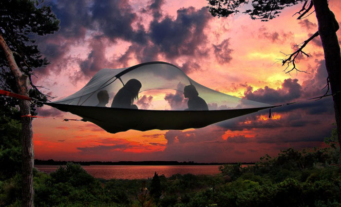 tree-top-tent & Stay in a treetop tent at Vic Falls Carnival - Africa Geographic