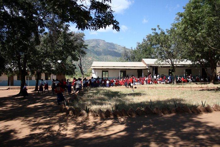 The Chimala primary school at the foot of the southern highlands.