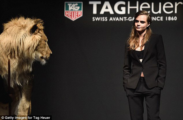 cara-delevingne-tag-heuer-lion-shoot