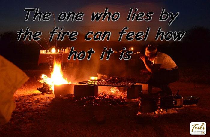 Tuli Safari Lodge proverb fire