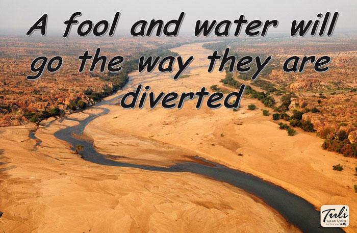 Tuli Safari Lodge proverbs