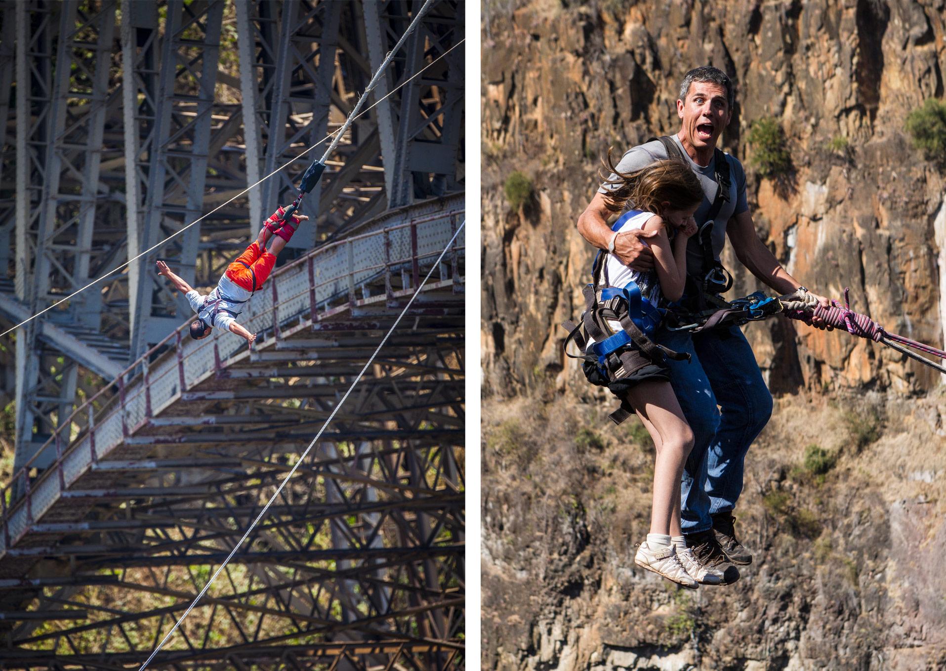bungee jumping gorge swing vic falls