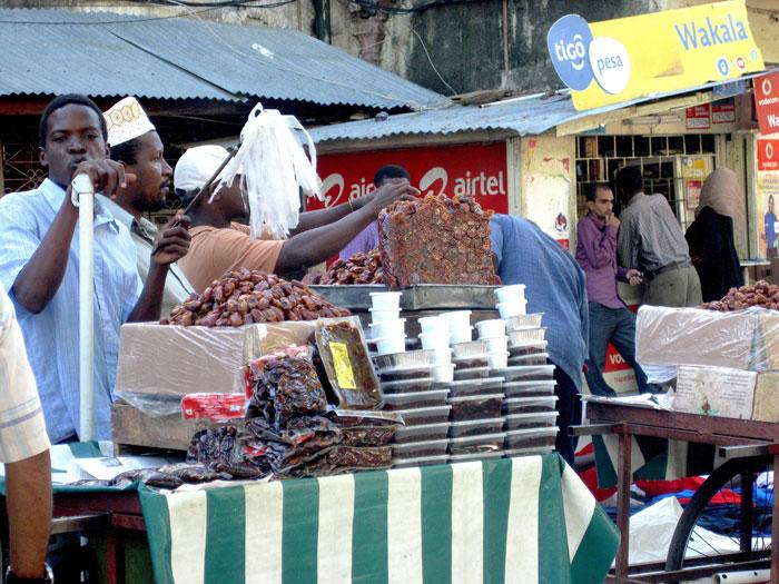 market in zanzibar