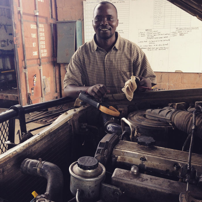 Mabvuto workshop manager