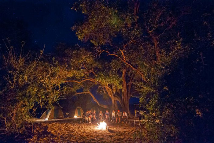 chobe camp fire