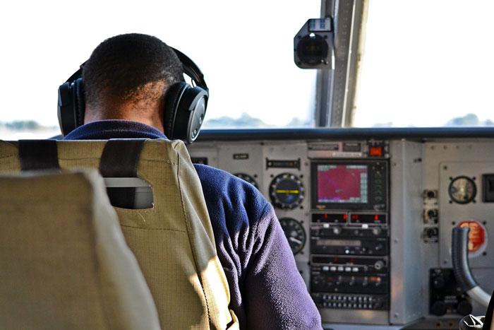 flight over okavango delta