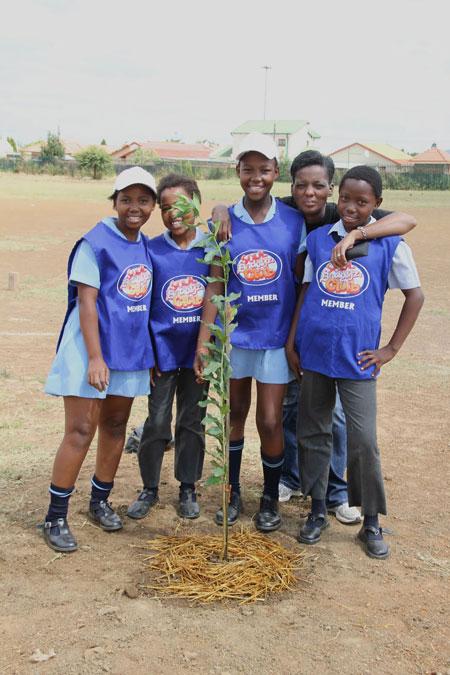 school planting trees