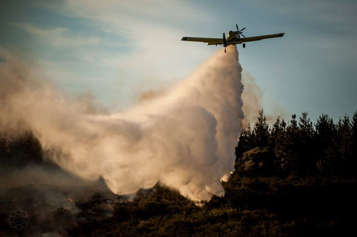 water bomber fire cape town