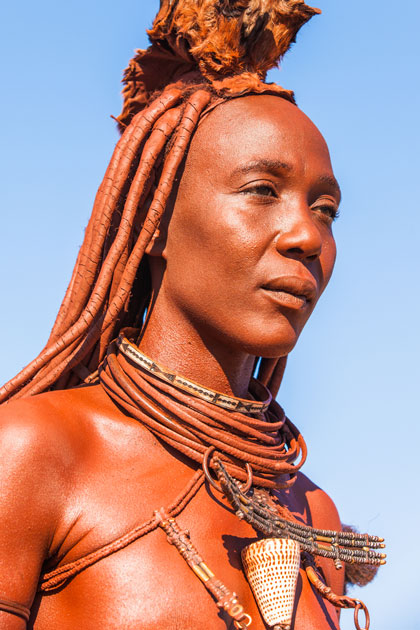 Life In The Desert Heat, Rocks And The Himba - Africa -7340