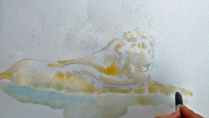 paint-brush-water-colour-lion