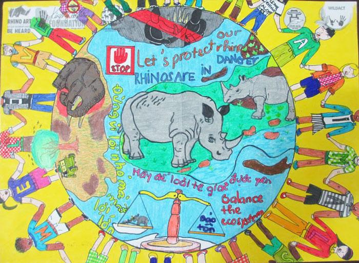 rhino art children