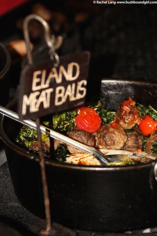 Delicious eland meatballs