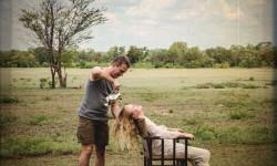 relaxing safari
