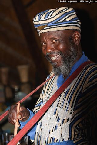 Sangoma wearing traditional dress