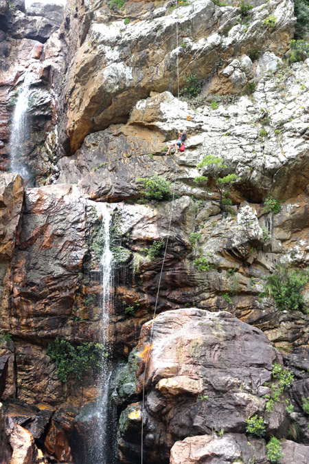 Abseiling from Thunder Falls