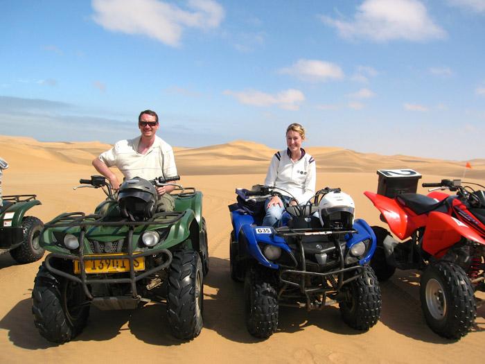 Quad biking in the Namib