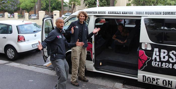 Abseil Africa's minivan