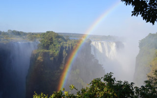 Rainbow over Vic Falls
