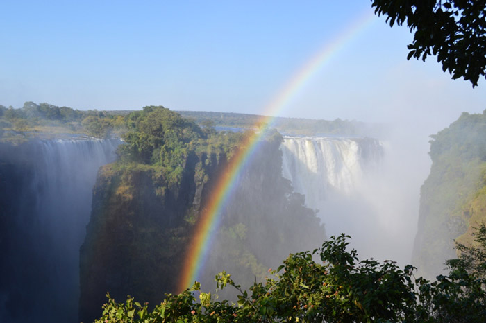 Rainbow over Vic Falls