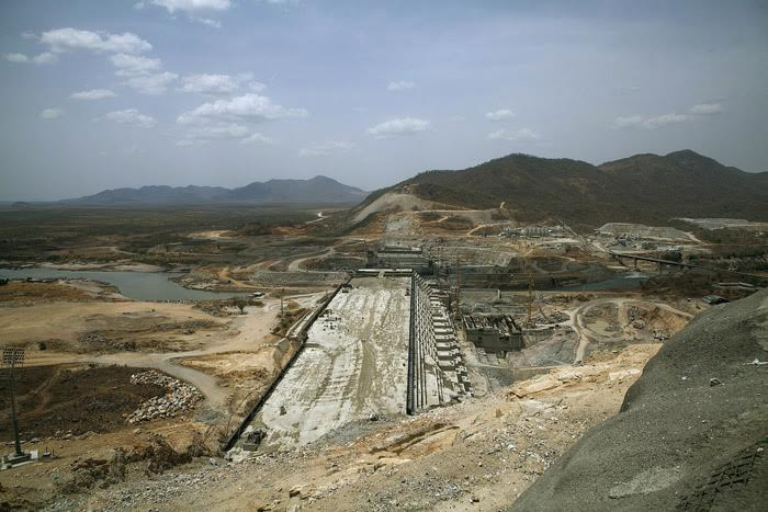 The Grand Renaissance Dam under construction near the Sudanese-Ethiopia border in March this year. The 6,000MW capacity will make it Africa's largest power plant. © Zacharias Abubeker/AFP/Getty Images