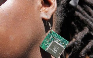 A former Kenyan street boy is now earning a living by making jewellery from e-waste. ©Nation Media Group
