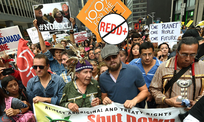Leo DiCaprio takes part in People's Climate March