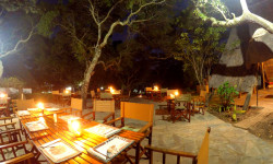 Cosy dinner at Pioneer Lodge, Camp and Safaris