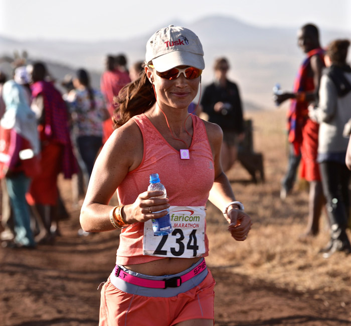 Pippa Middleton runs for rhinos