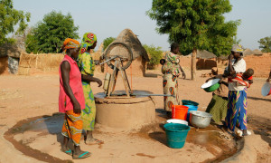 solar powered water project in Cameroon