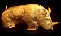 If successful, the British Museum may include the golden rhinoceros of Mapungubwe as part of a planned exhibition of South African art due to open next year. © Tim Hauf/Corbis