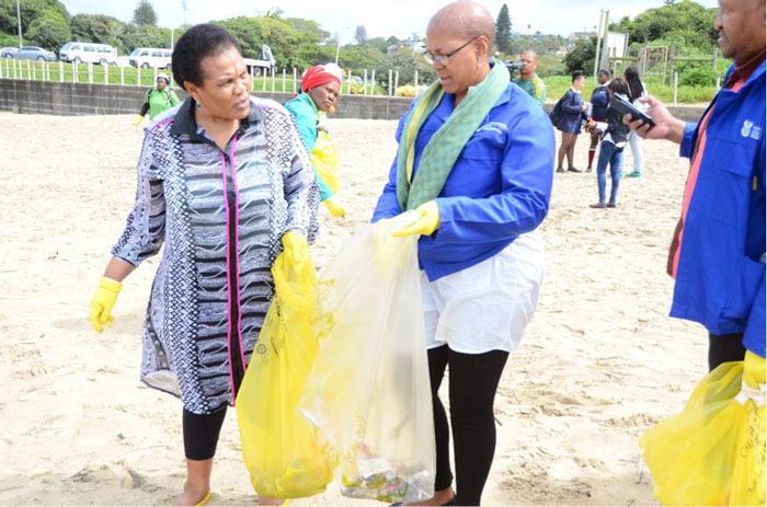 Deputy Minister of Environmental Affairs Ms. Barbara Thomson (left) with Director General of Environmental Affairs Ms. Nosipho Ngcaba © Paul Sigutya and Tshego Letshwiti