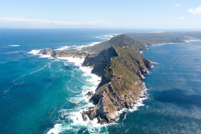View of Cape Point from a helicopter © Bas Leenders
