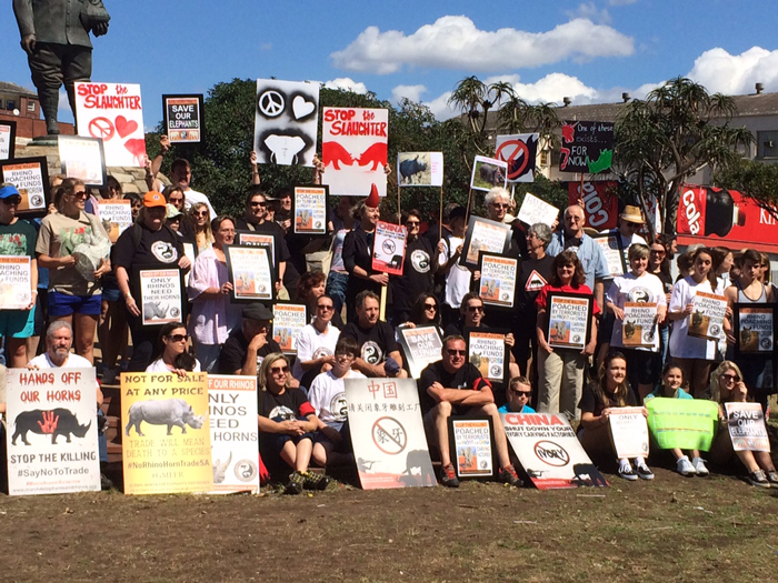 Global March for Elephants and Rhinos in Durban 2014