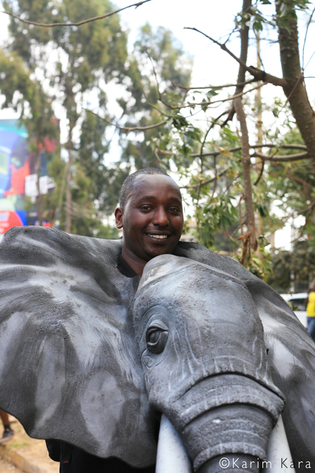 A supporter of elephants in Kenya © Karim Kara