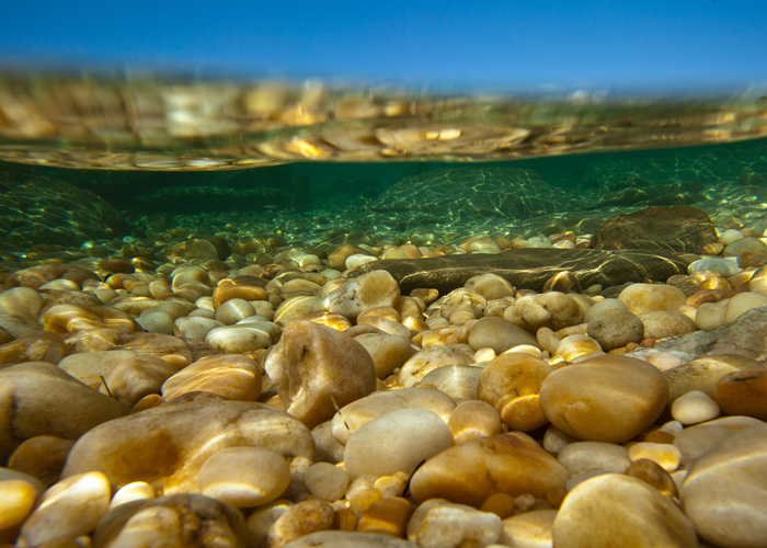 Pebbles under the surface ©The Good Holiday