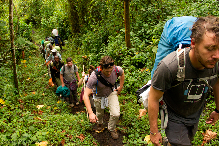 Nyiragongo-hikers-climb-Sean-Messham
